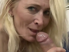 Big ass granny loves it when a young throbbing cock penetrates her deep as that babe screams