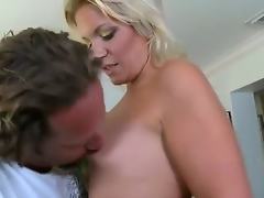 A handsome man takes advantage of a grief stricken young widow. He bows her over, fucks her from behind, and ejaculates inside of her. I wonder if shes pregnant. Eh, fuck it.