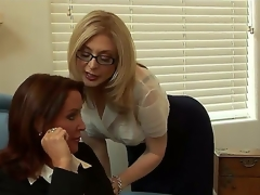 Brunette hair MILF Nina and hot breasty golden-haired Rachel are having a hot wild sex. U definitely should check out the video of those greatly hot chicks fucking.