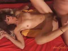 Old guy eats out and fucks his mature wife