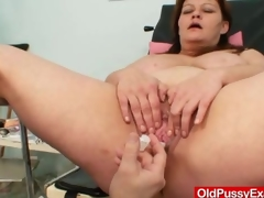 Huge titties plumper mature gyno doc check up