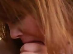 Ginger Tattooed aged Vanya Vixen gulps giant spanish sausage