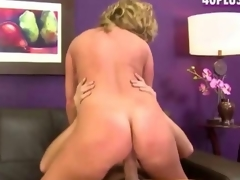 Stevie A a golden-haired divorcee newbie fucks for porn