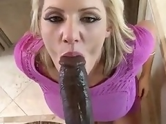Huge dark cock for beautiful milf Zoey Holiday