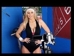 Julia Ann is a hyper fitness freak putting jointly an edgy workout DVD. That Babe has not quite everything this hottie needs: glamorous bouncing love muffins, an awesome firm body, a vigorous routine, but still lacks a certain `je ne-sais-quoi` to make it complete. One Time this hottie spots Tony Ribas in the gym, this hottie comes up with a recent idea for the DVD that all sexually active women can have a joy by putting her love bubbles into action and sweating herself into a sexy frenzy!